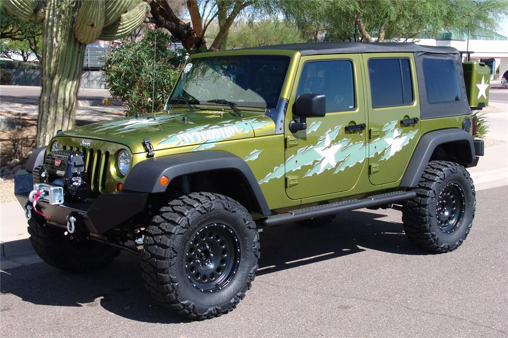 "2007 JEEP WRANGLER CUSTOM 4 DOOR ""WAR WAGON"" - Front 3/4 - 60603"