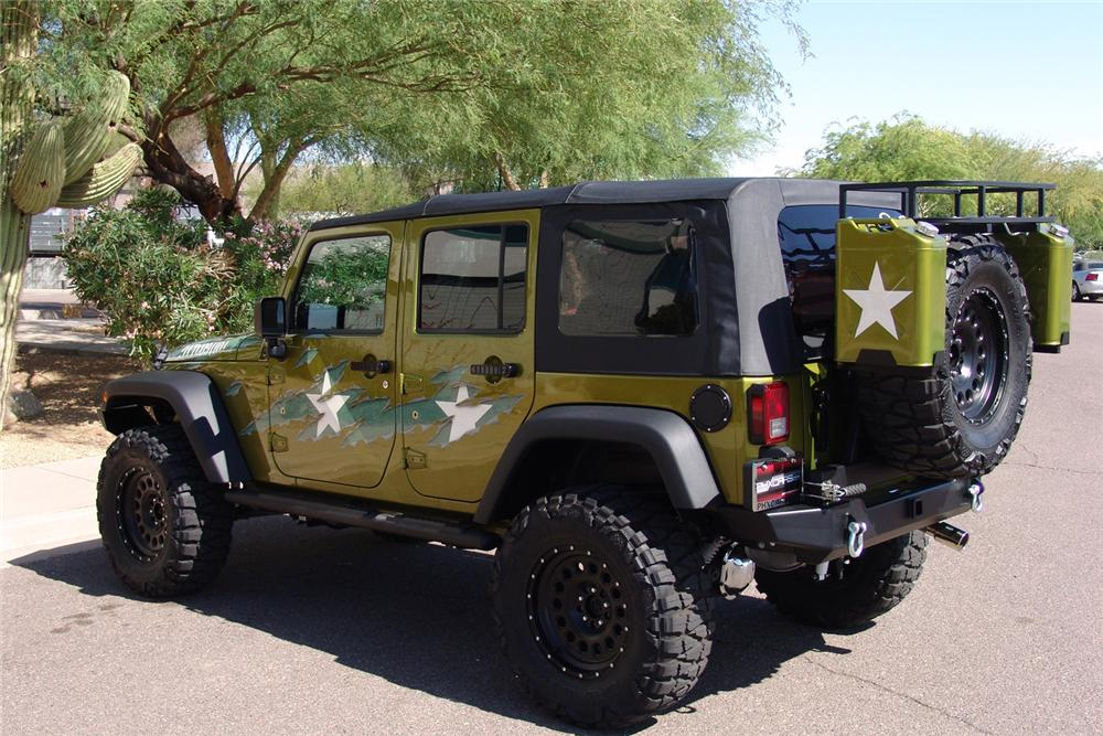 "2007 JEEP WRANGLER CUSTOM 4 DOOR ""WAR WAGON"" - Rear 3/4 - 60603"