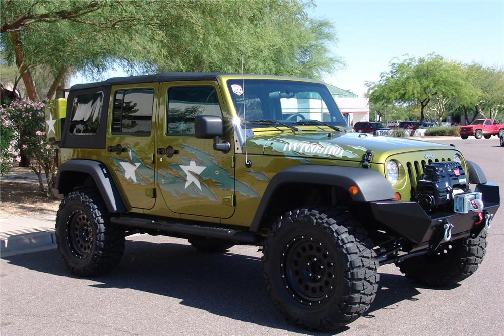 "2007 JEEP WRANGLER CUSTOM 4 DOOR ""WAR WAGON"" - Side Profile - 60603"