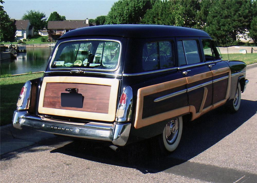 1953 MERCURY MONTEREY 4 DOOR WOODY WAGON - Rear 3/4 - 60617