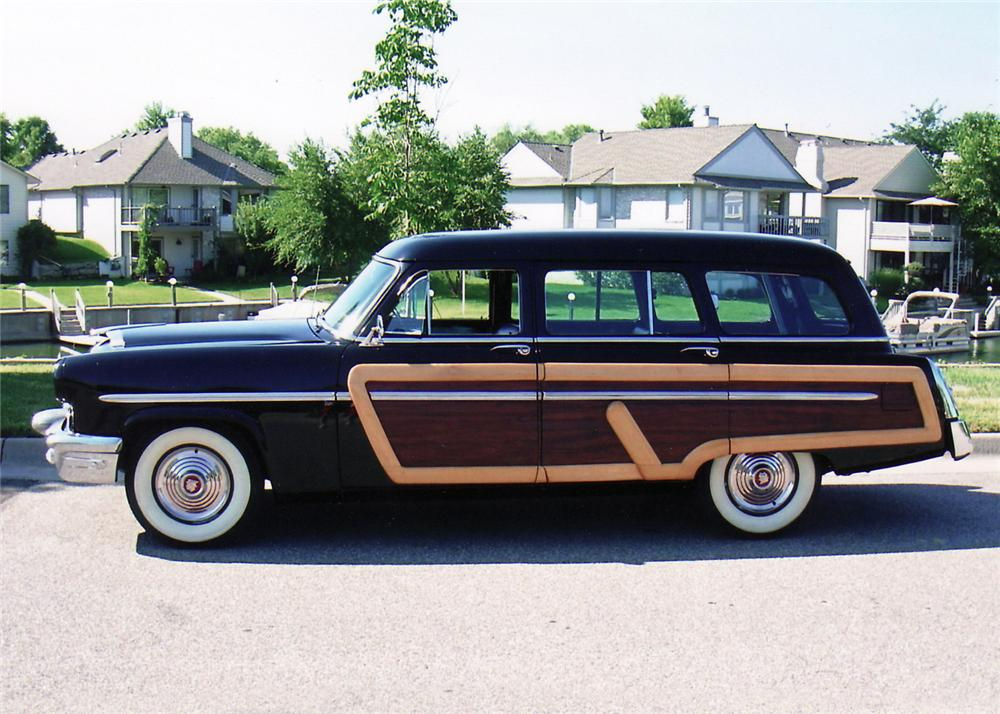 1953 MERCURY MONTEREY 4 DOOR WOODY WAGON - Side Profile - 60617