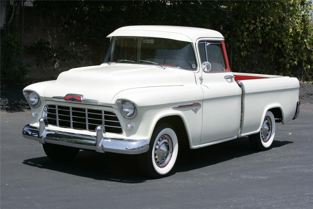1955 CHEVROLET CAMEO PICKUP - Front 3/4 - 60635