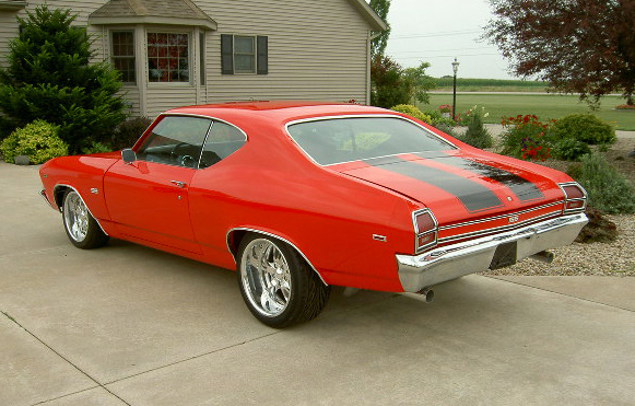 1969 CHEVROLET CHEVELLE SS 2 DOOR - Rear 3/4 - 60644