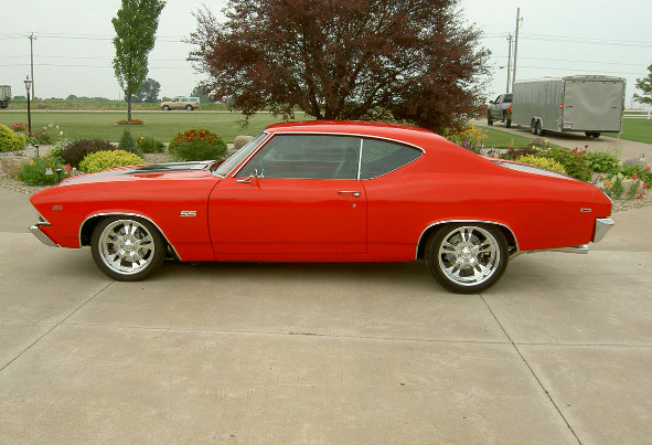 1969 CHEVROLET CHEVELLE SS 2 DOOR - Side Profile - 60644