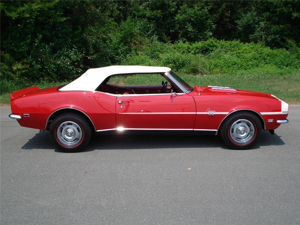 1968 CHEVROLET CAMARO RS/SS CONVERTIBLE - Side Profile - 60656