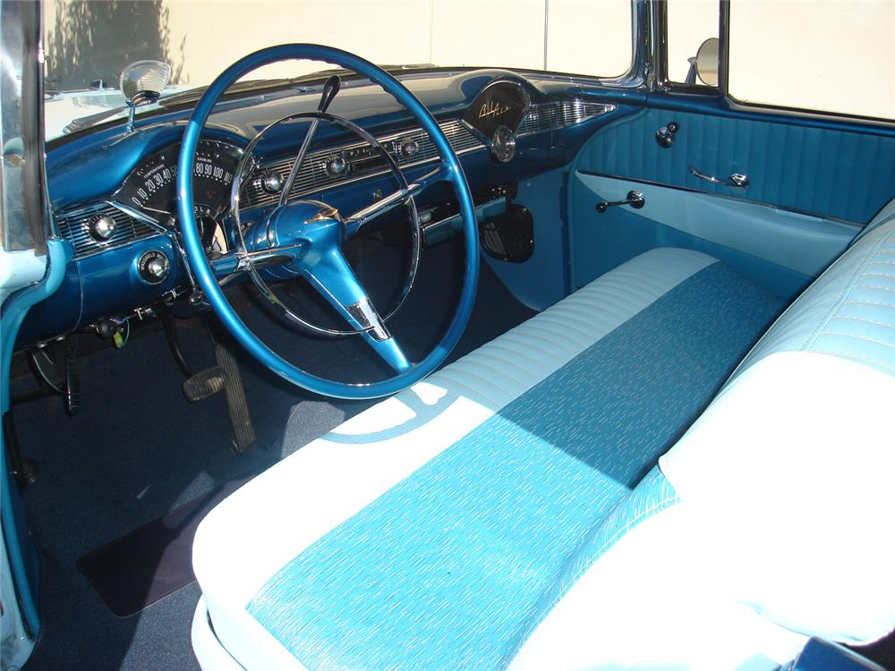 1956 CHEVROLET BEL AIR CONVERTIBLE - Interior - 60702