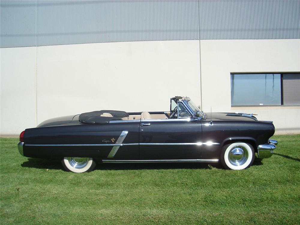 1953 LINCOLN CAPRI CONVERTIBLE - Side Profile - 60703