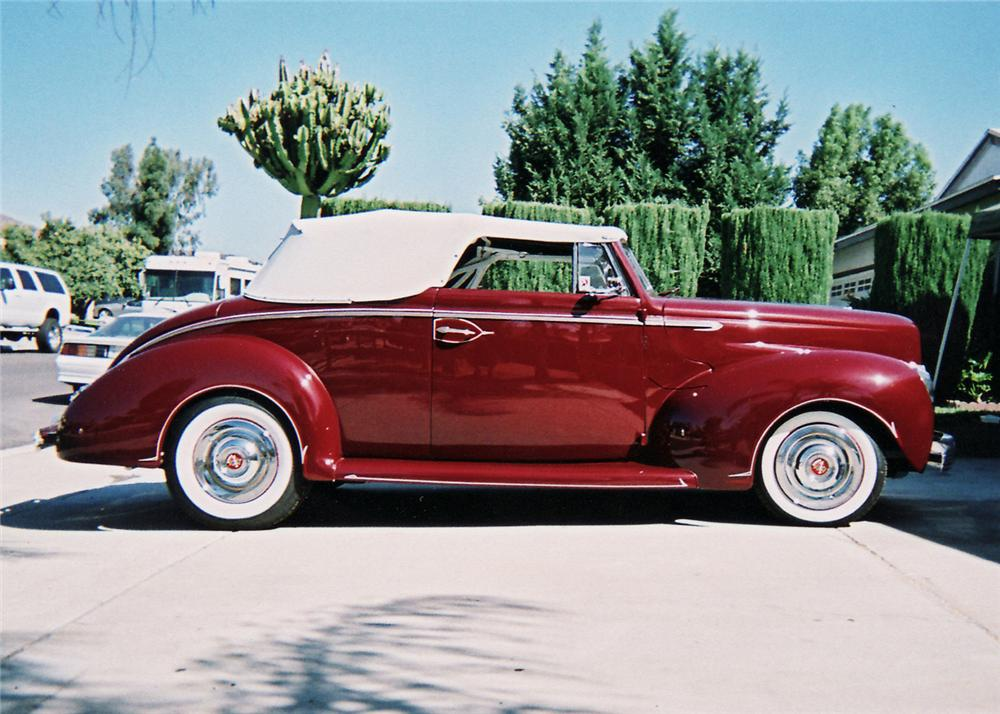 1940 FORD DELUXE CUSTOM 2 DOOR CONVERTIBLE - Side Profile - 60709