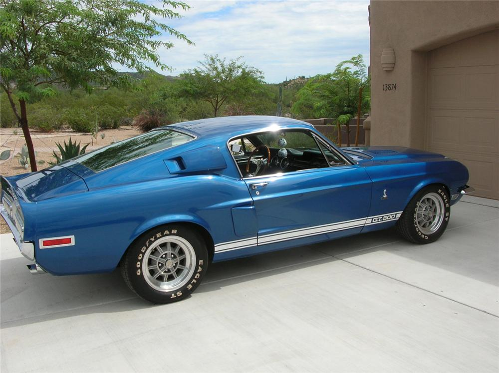 1968 SHELBY GT500 FASTBACK - Side Profile - 60710