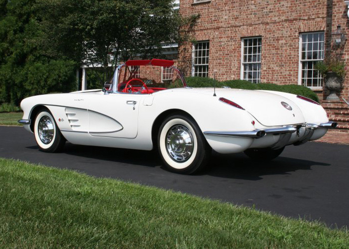 1959 CHEVROLET CORVETTE CONVERTIBLE - Rear 3/4 - 60721