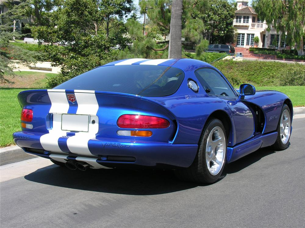 1996 DODGE VIPER GTS COUPE - Rear 3/4 - 60725