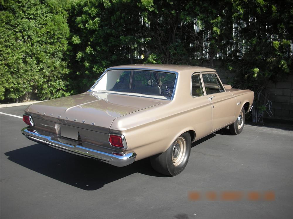1965 PLYMOUTH BELVEDERE 2 DOOR HARDTOP - Rear 3/4 - 60731