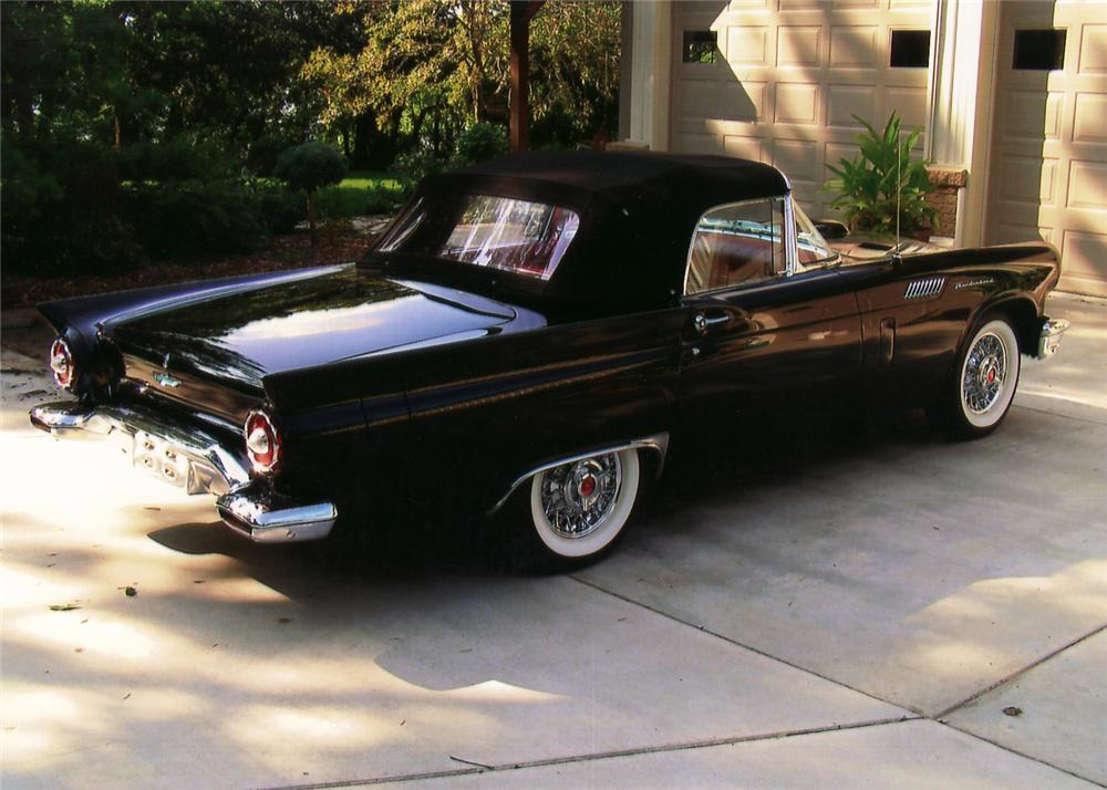 1957 FORD THUNDERBIRD CONVERTIBLE - Rear 3/4 - 60735