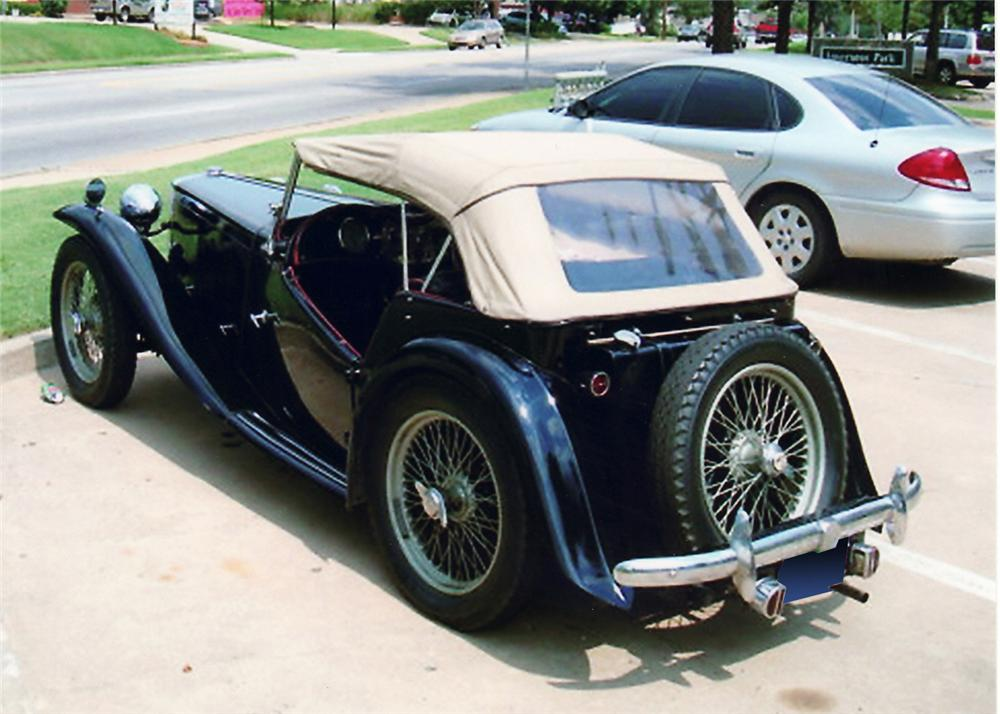 1949 MG TC ROADSTER - Rear 3/4 - 60753
