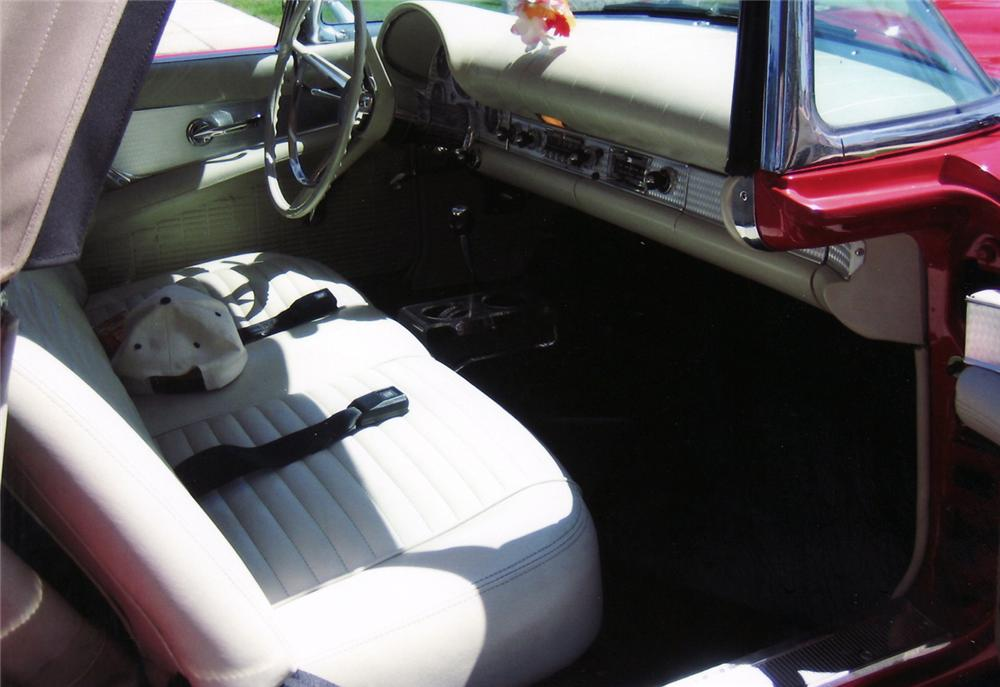 1957 FORD THUNDERBIRD CONVERTIBLE - Interior - 60756