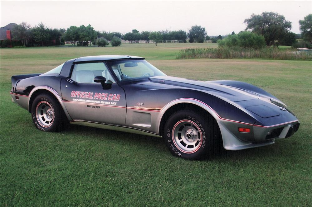 1978 chevrolet corvette pace car coupe 60761. Black Bedroom Furniture Sets. Home Design Ideas