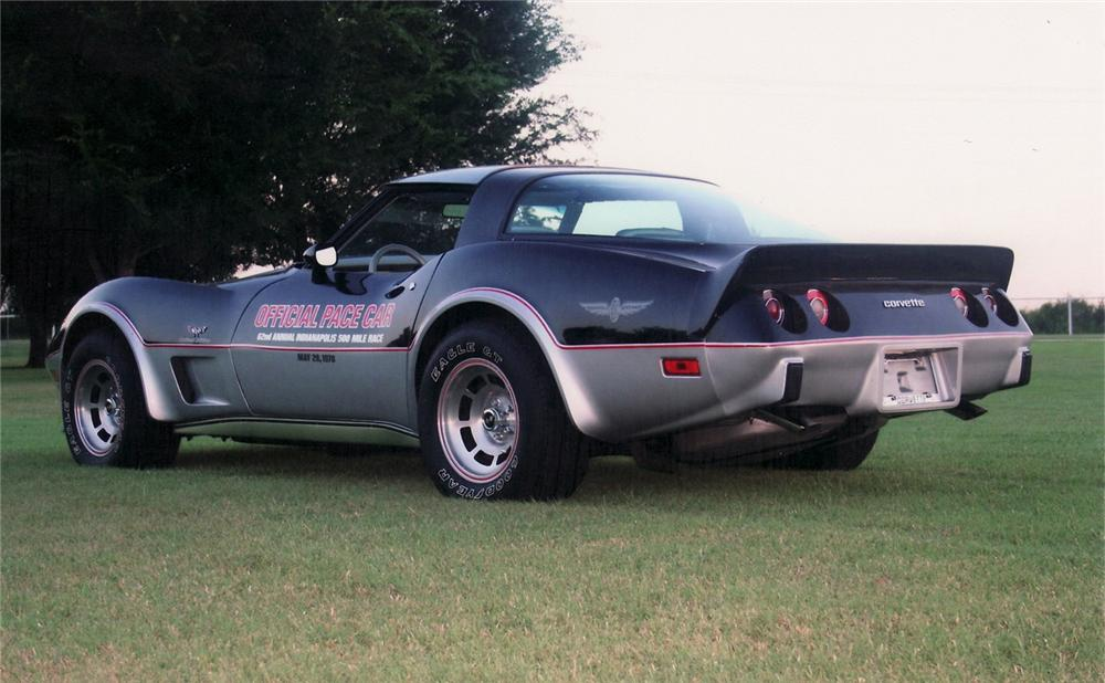 1978 CHEVROLET CORVETTE PACE CAR COUPE - Rear 3/4 - 60761