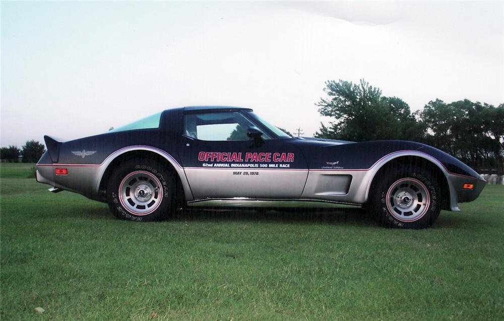 1978 CHEVROLET CORVETTE PACE CAR COUPE - Side Profile - 60761