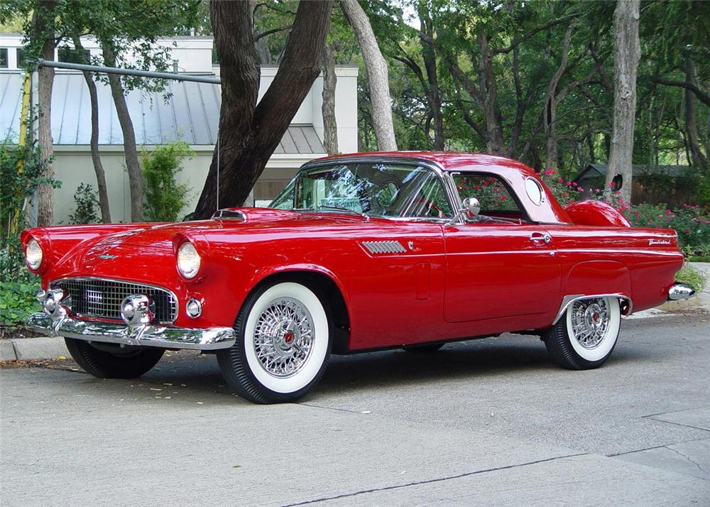 1956 FORD THUNDERBIRD CONVERTIBLE - Front 3/4 - 60805