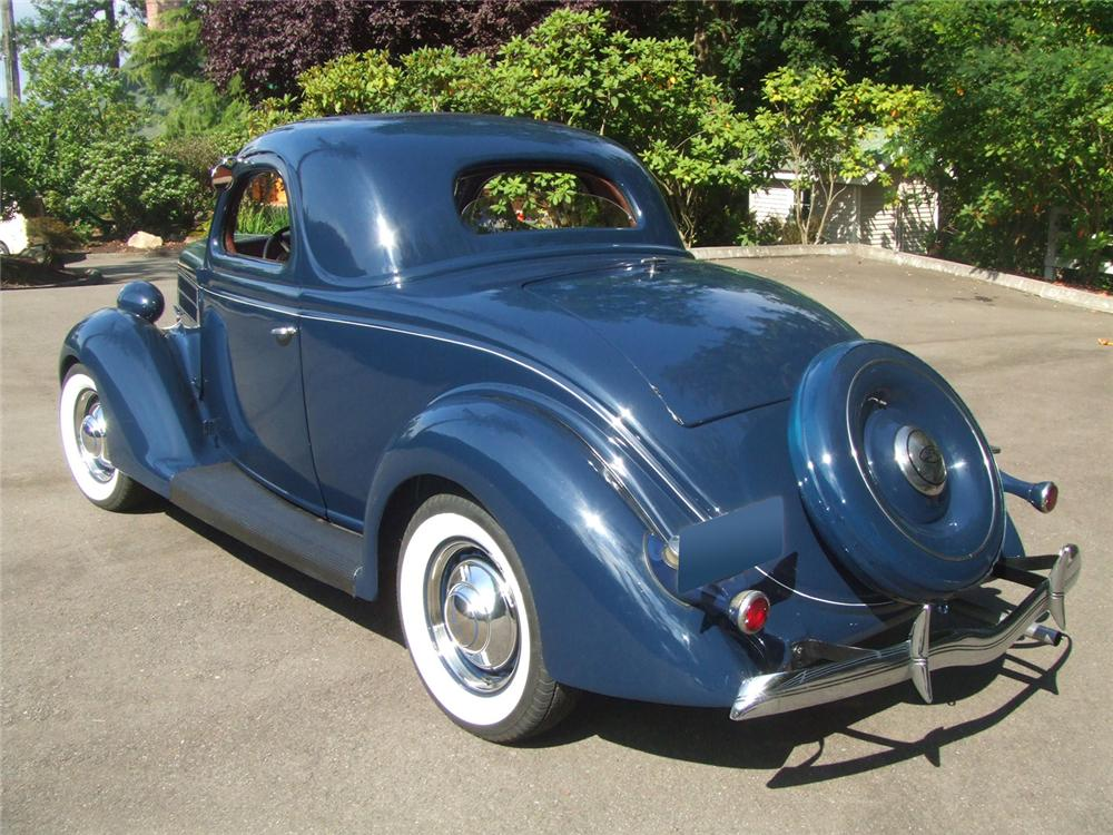 1936 FORD 3 WINDOW COUPE - Rear 3/4 - 60816
