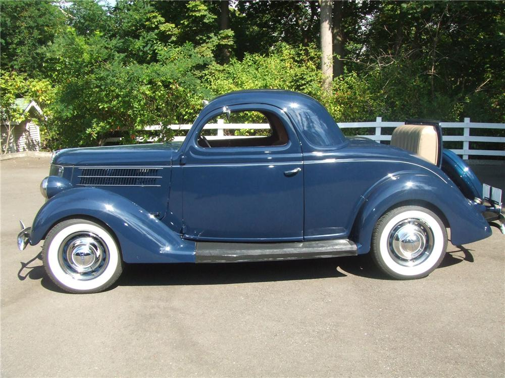 1936 FORD 3 WINDOW COUPE - Side Profile - 60816