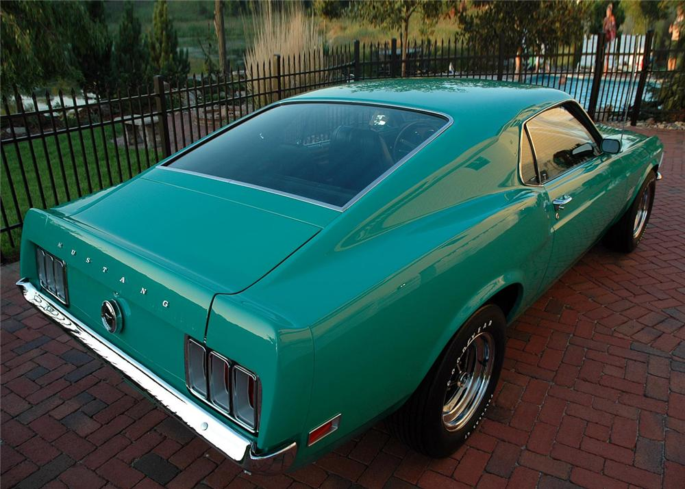 1970 FORD MUSTANG BOSS 429 FASTBACK - Rear 3/4 - 60821