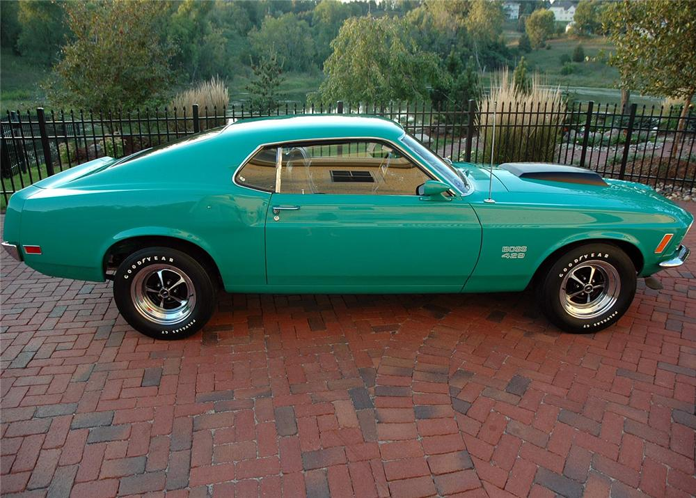 1970 FORD MUSTANG BOSS 429 FASTBACK - Side Profile - 60821