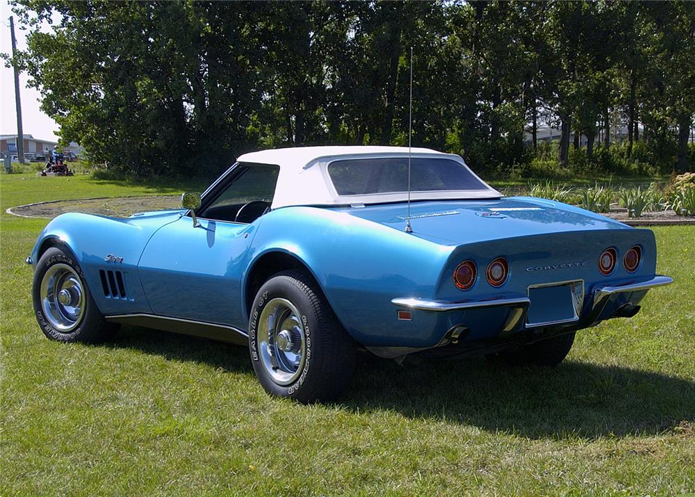 1969 CHEVROLET CORVETTE CONVERTIBLE - Rear 3/4 - 60822