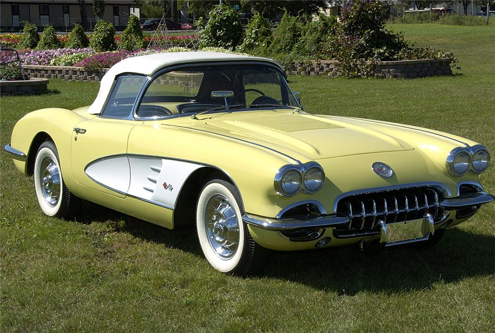 1958 CHEVROLET CORVETTE CONVERTIBLE - Front 3/4 - 60825