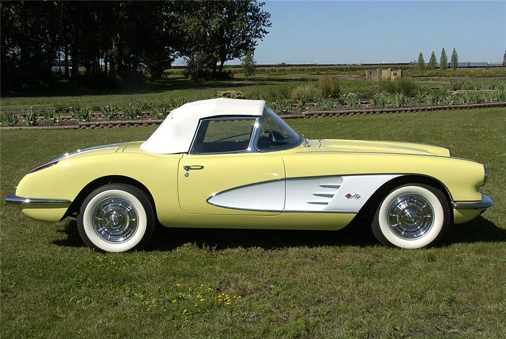 1958 CHEVROLET CORVETTE CONVERTIBLE - Side Profile - 60825