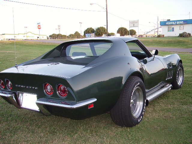 1969 CHEVROLET CORVETTE COUPE - Rear 3/4 - 60828