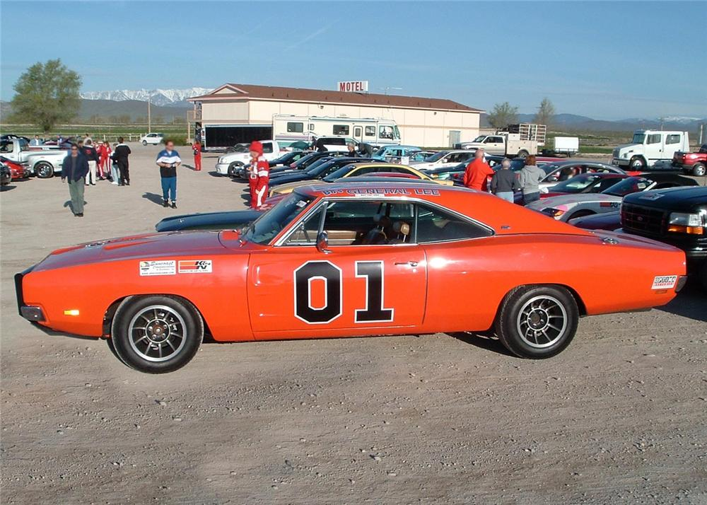 """1969 DODGE CHARGER COUPE """"BOS GENERAL LEE"""" - Side Profile - 60838"""