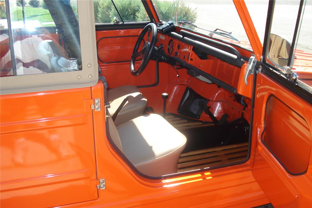 1973 VOLKSWAGEN THING CONVERTIBLE - Interior - 60851