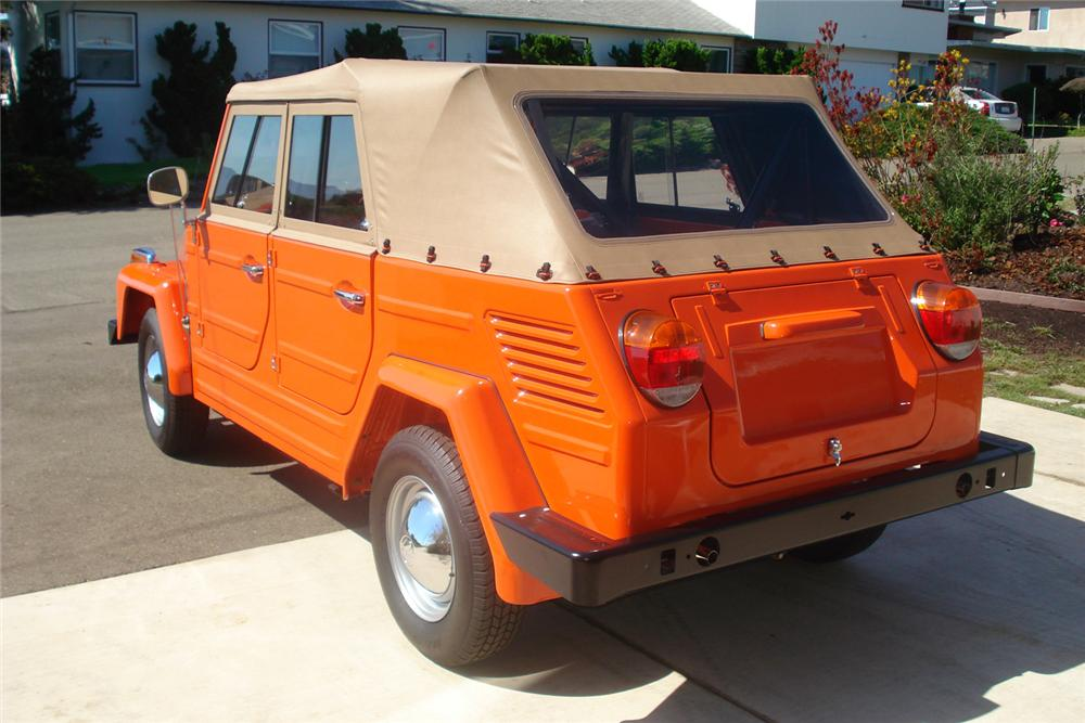1973 VOLKSWAGEN THING CONVERTIBLE - Rear 3/4 - 60851