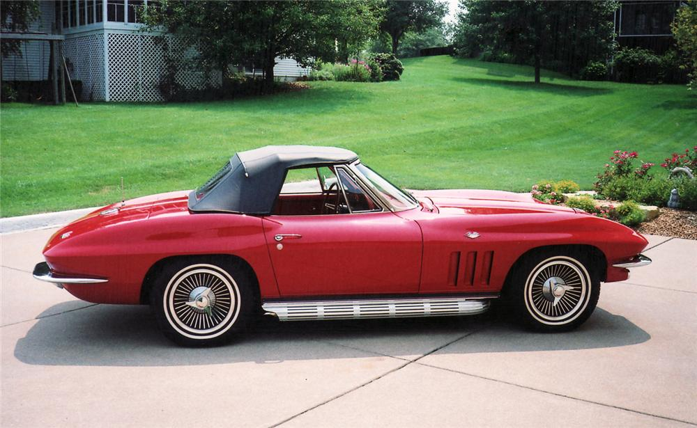 1966 CHEVROLET CORVETTE CONVERTIBLE - Side Profile - 60852