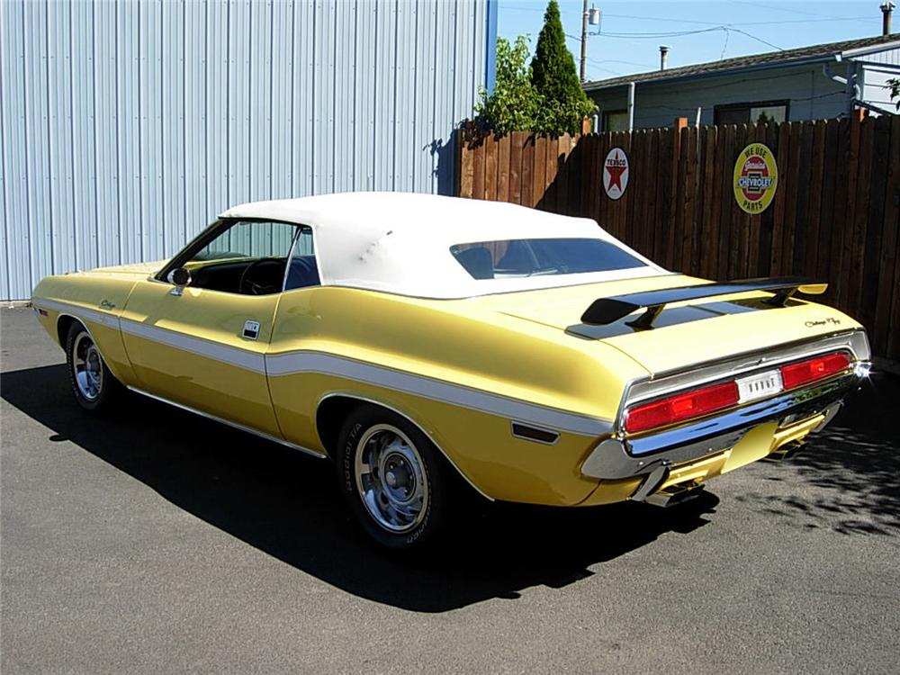 1970 DODGE HEMI CHALLENGER CONVERTIBLE RE-CREATION - Rear 3/4 - 60861