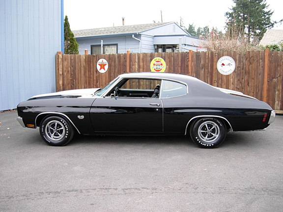 1970 CHEVROLET CHEVELLE LS6 SS COUPE - Side Profile - 60863