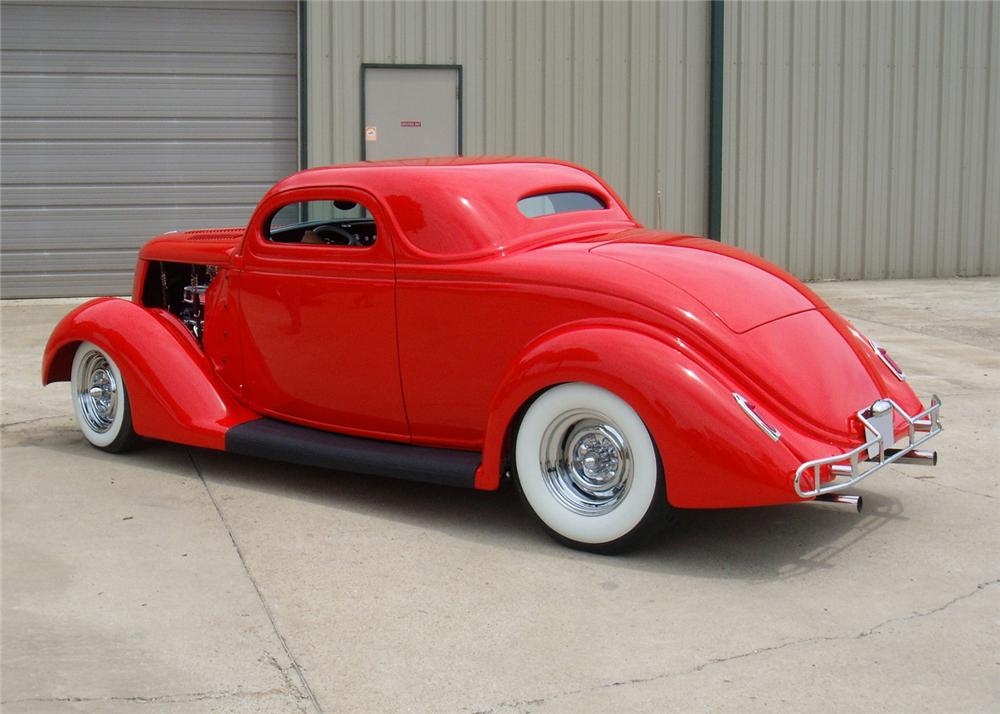 1936 FORD 3 WINDOW COUPE STREET ROD - Rear 3/4 - 60885