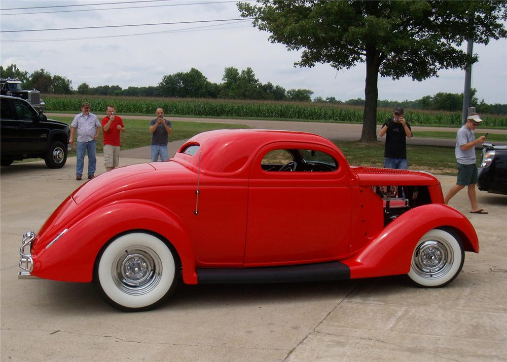 1936 FORD 3 WINDOW COUPE STREET ROD - Side Profile - 60885