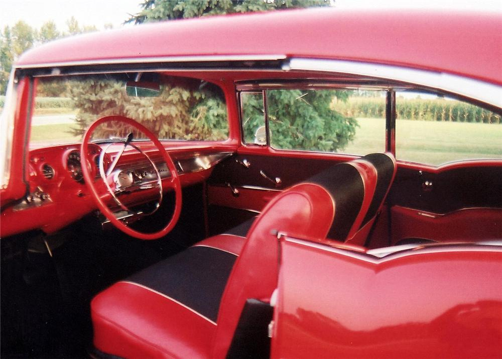 1957 CHEVROLET BEL AIR SPORT COUPE - Interior - 60895