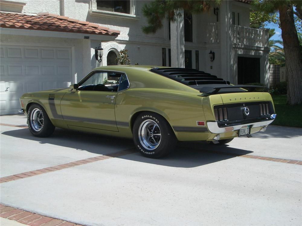 1970 FORD MUSTANG BOSS 302 FASTBACK - Rear 3/4 - 60899