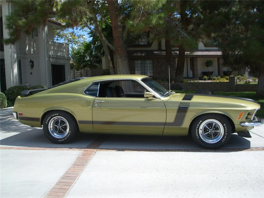 1970 FORD MUSTANG BOSS 302 FASTBACK - Side Profile - 60899