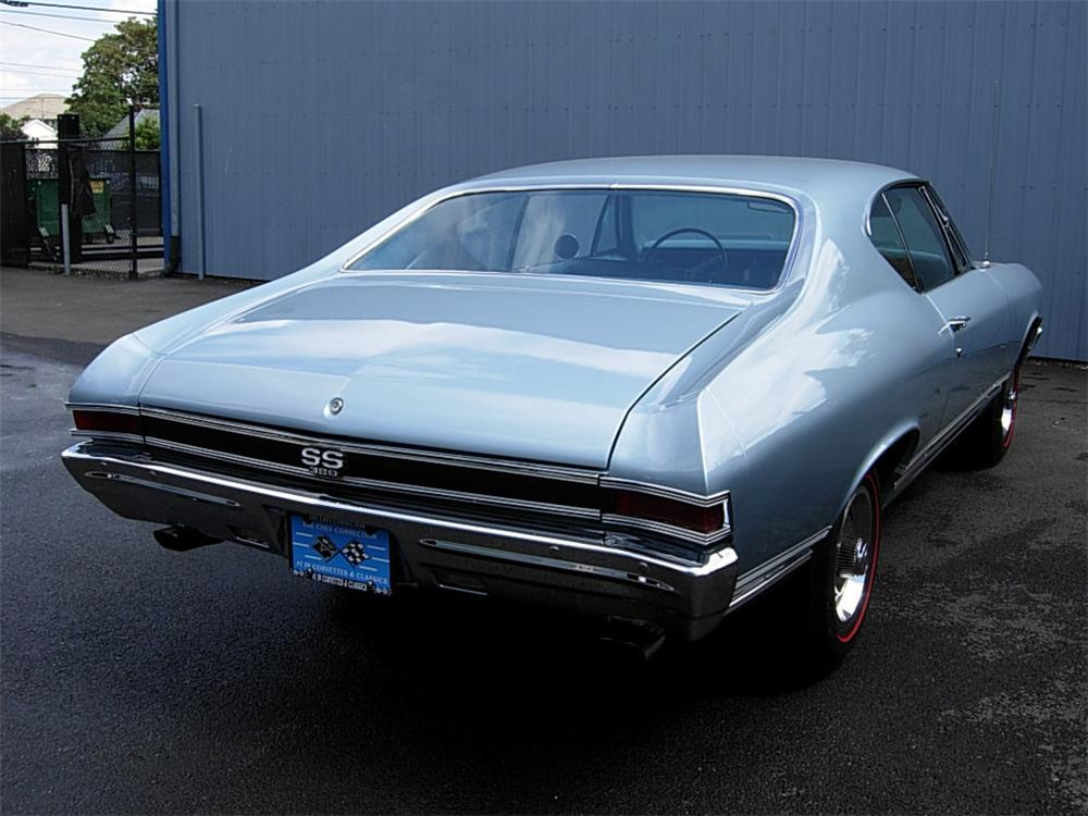 1968 CHEVROLET CHEVELLE SS 2 DOOR COUPE - Rear 3/4 - 60934