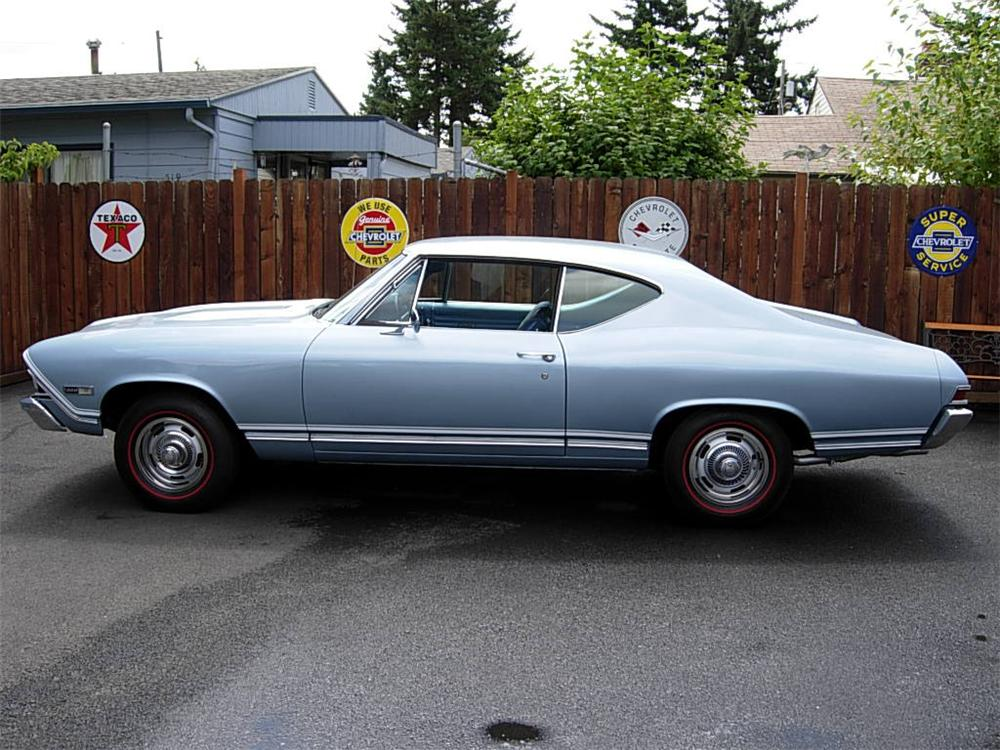 1968 CHEVROLET CHEVELLE SS 2 DOOR COUPE - Side Profile - 60934