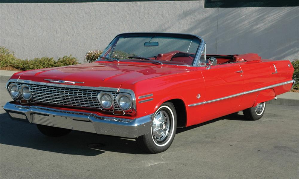1963 CHEVROLET IMPALA SS 409 CONVERTIBLE - Front 3/4 - 60959