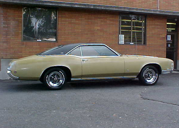 1967 BUICK RIVIERA 2 DOOR HARDTOP - Side Profile - 60967