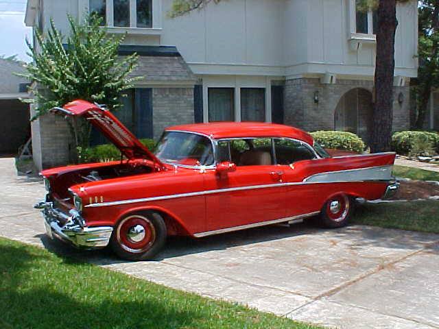 1957 CHEVROLET BEL AIR 2 DOOR HARDTOP CUSTOM - Front 3/4 - 60977