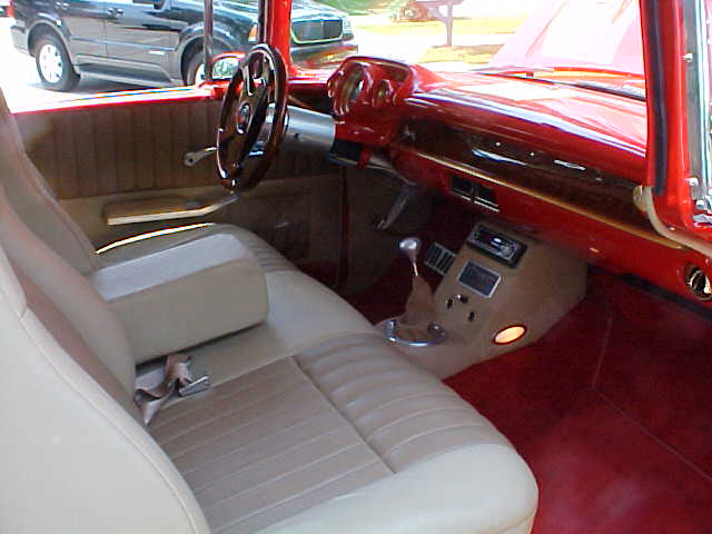 1957 CHEVROLET BEL AIR 2 DOOR HARDTOP CUSTOM - Interior - 60977