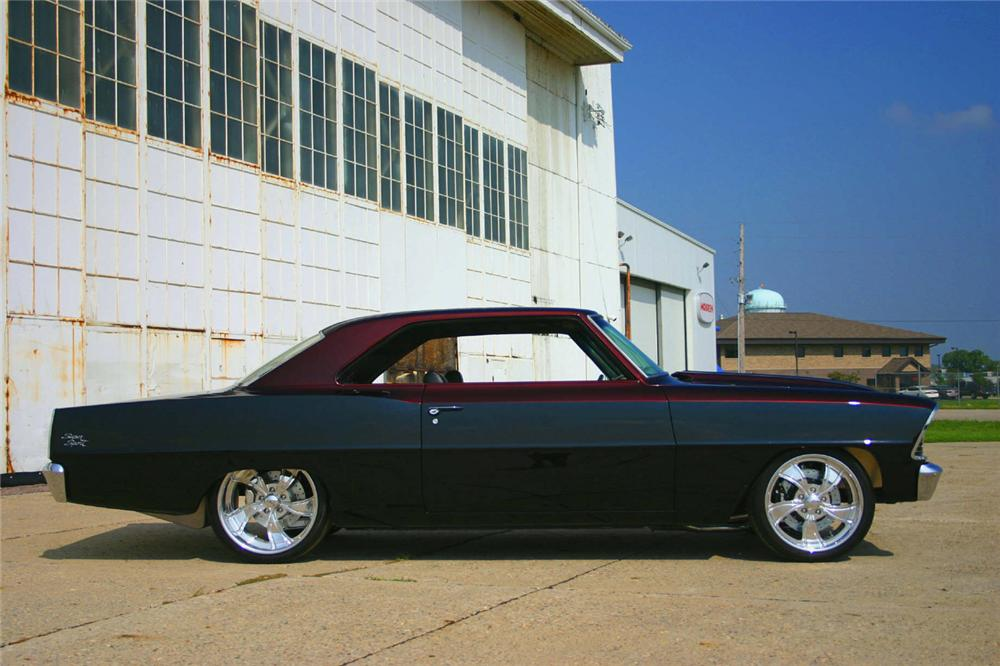 1966 CHEVROLET NOVA 2 DOOR HARDTOP CUSTOM - Side Profile - 60992