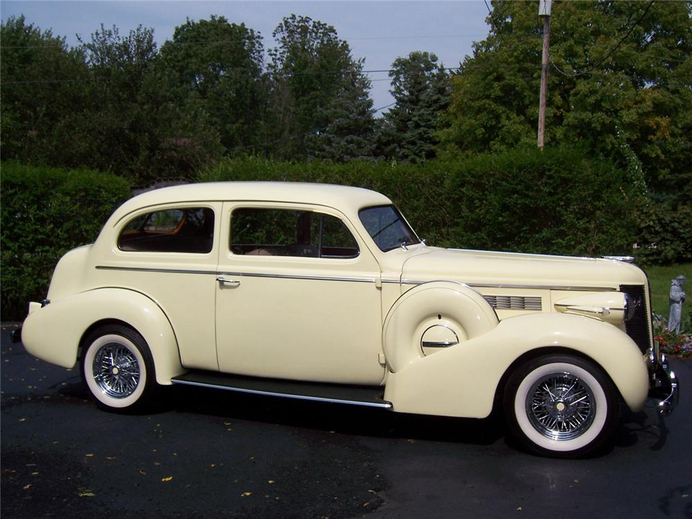 1937 BUICK SERIES 40 2 DOOR SEDAN CUSTOM - Side Profile - 60995